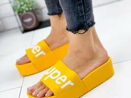 Шлепки женские Super желтые 1146