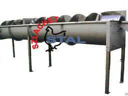 Шнековый охладитель для субпродуктов Тип SP- 0,3/0,4/0,6/0,8