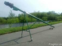 Шнековый погрузчик зерна ТГ160/3/3/1 бункер съемный колеса (