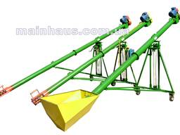Шнековый погрузчик (зернометатель). 5м/140мм/380В, подставка