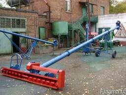 Шнековый зернопогрузчик зернометатель зерномёт транспортёр
