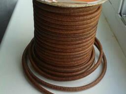 Шнур кожаный круглый 5,8,10 мм
