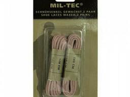 Шнурки вощеные Mil-Tec 140 см койот