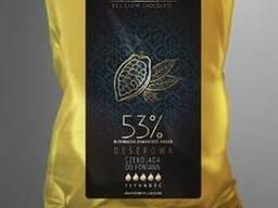 Шоколад черный 53 %, натуральный бельгийский Blanche