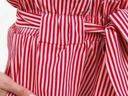 Шорты женские 102R053 цвет Красно-белый