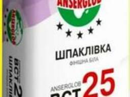 """Шпаклевка фасадная финишная """"ВСТ-25""""(белая) """"Anserglob"""" 15кг"""