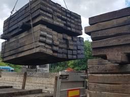 Шпала деревянная бу на експорт.