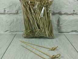 Шпажка для канапе Палочки бамбуковые с узелком 12см 100шт