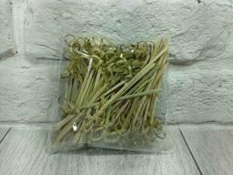 Шпажка для канапе Палочки бамбуковые с узелком 9см 100шт