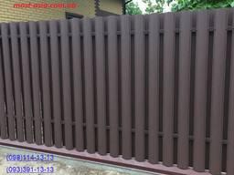 Штакет усиленный, металлический евроштакет, забор из штакета