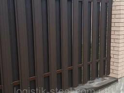 Штакетник Коричневый Италия двухсторонний рал 8017 мат 0,45 мм Евроштакетник штакеты. ..