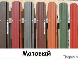Штакетник металлический, двухсторонний цвет