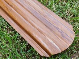 Штакетник металлический купить 0,4мм Корея под дерево/RAL 3-D Золотой дуб 105мм 115мм