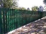Штакетник металлический евроштакетник забор из штахета - фото 7