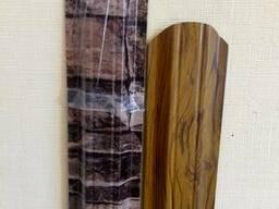 Штакетник металлический- структура дерева в наличии