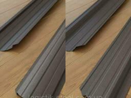 Штакетник Темно-коричневый Италия двухсторонний рал 8019 мат 0,45 мм Евроштакетник. ..