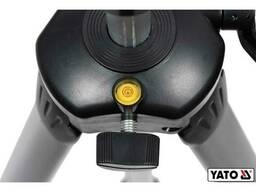 """Штатив тринога алюмінієвий YATO з телескопічними ніжками 60-150 см різьба 1/4"""" і 5/8"""""""