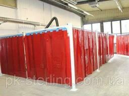 Шторы для сварщика цеховые, из ткани ПВХ (Германия)