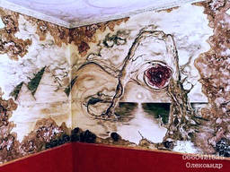 Трендовий барел'єф, художня інтер'єрна ліпка Луцьк майстер.