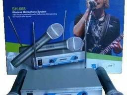 Shure SH-668 два радиомикрофона, самая удачная модель.