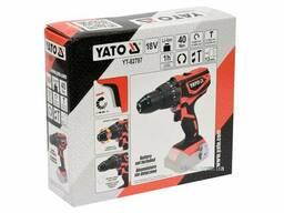 Шуруповерт-дриль ударний акумуляторний YATO 18 В 40 Нм (без акумулятора і зарядного. ..