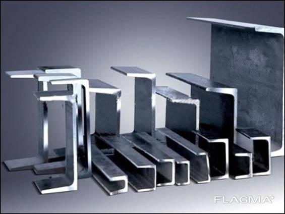Швеллер гнутый алюминиевый 250х100х3 мм