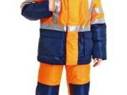 Сигнальный рабочий костюм