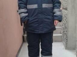 Сигнальный утепленный костюм(куртка и полукомбинезон) пошив