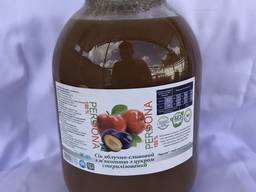 Сік яблучно-сливовий з м'якоттю з цукром стерилізований 3л