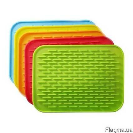 Силиконовый коврик для сушки посуды (21*15 см. )