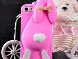 Симпатичный дизайн силиконового чехла Moschino iPhone 5 Rabb