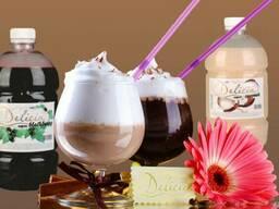 Сиропы для молочных коктейлей ТМ «Delecia»