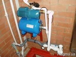 Системы повышения давления воды насос ёмкость трубопроводы