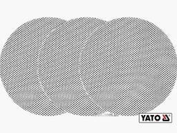 Сітка абразивна тверда на липучці до шліфмашини YATO G180 225 мм 3 шт