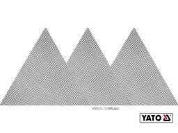 Сітка абразивна тверда трикутна на липучці до шліфмашини YATO G60 280 мм 3 шт