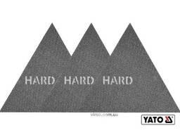 Сітка абразивна тверда трикутна на липучці до шліфмашини YATO G80 280 мм 3 шт