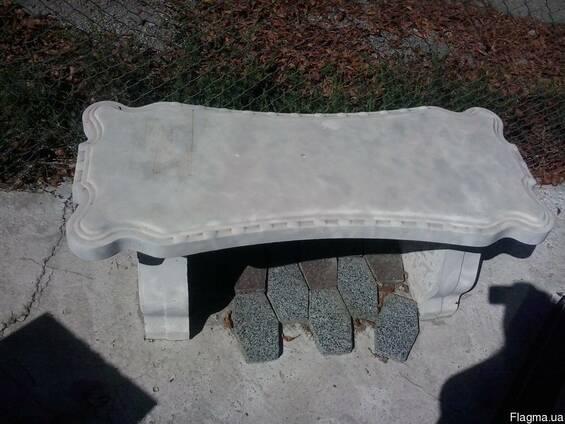 Скамейка гранилитная. столик гранилитный