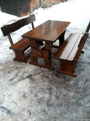 Скамейка из дерева от производителя