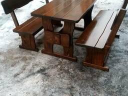 Скамейка из дерева от производителя - фото 2