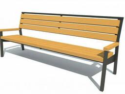 Скамейка парковая стиле LOFT (Street Bench - 50)
