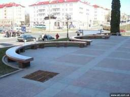 Скамейки и лавки парковые из гранита, мрамора, песчаника.