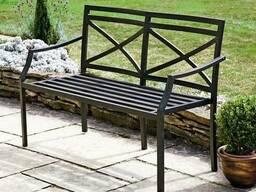 Скамейки, лавочки из металла, мебель