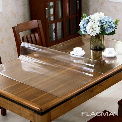 Прозора скатертину - М'яке скло на стіл