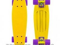 Скейтборд скейт Penny Board желтый (Пенни борд): 6 цветов (л
