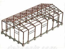 Склад 12х30 балочный, ангар, каркас, навес, фермы. ..