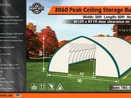 Склад, палатка, тунельный ангар TMG Industrial 9,1х18,2х 4,5