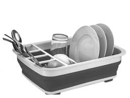 Складная силиконовая сушилка для посуды и столовых приборов