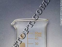 Склянки лабораторні низькі з носиком і градуюванням ТС