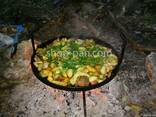 Сковорода из диска бороны для пикника 40см для жарки барбекю - фото 4