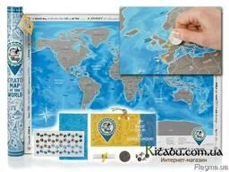 Скретч-карта мира Discovery Map EN 2018 NEW